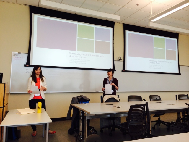 Alisha Fisher and I presenting at GLCTL.