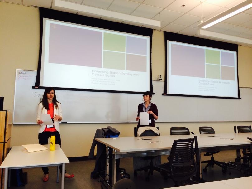 Alisha Fisher and I presenting at GLCTL.
